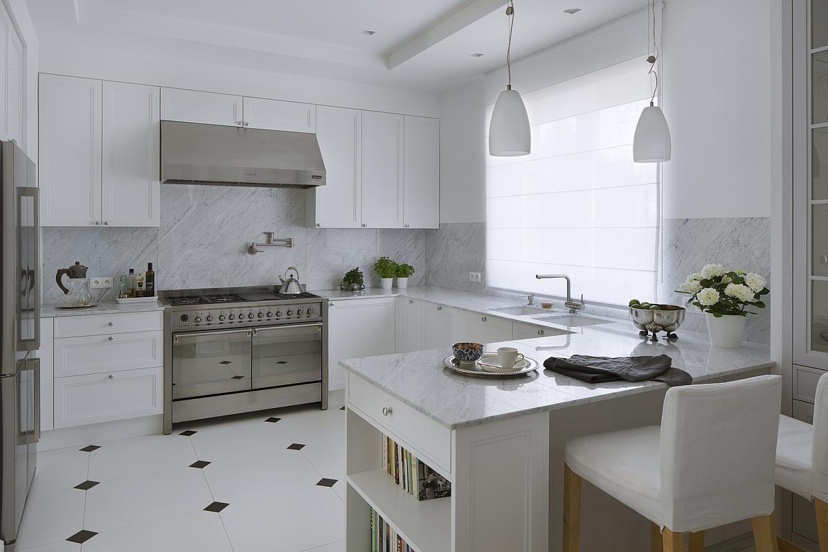 Biała Kuchnia W Stylu Retro Kuchnie I łazienki