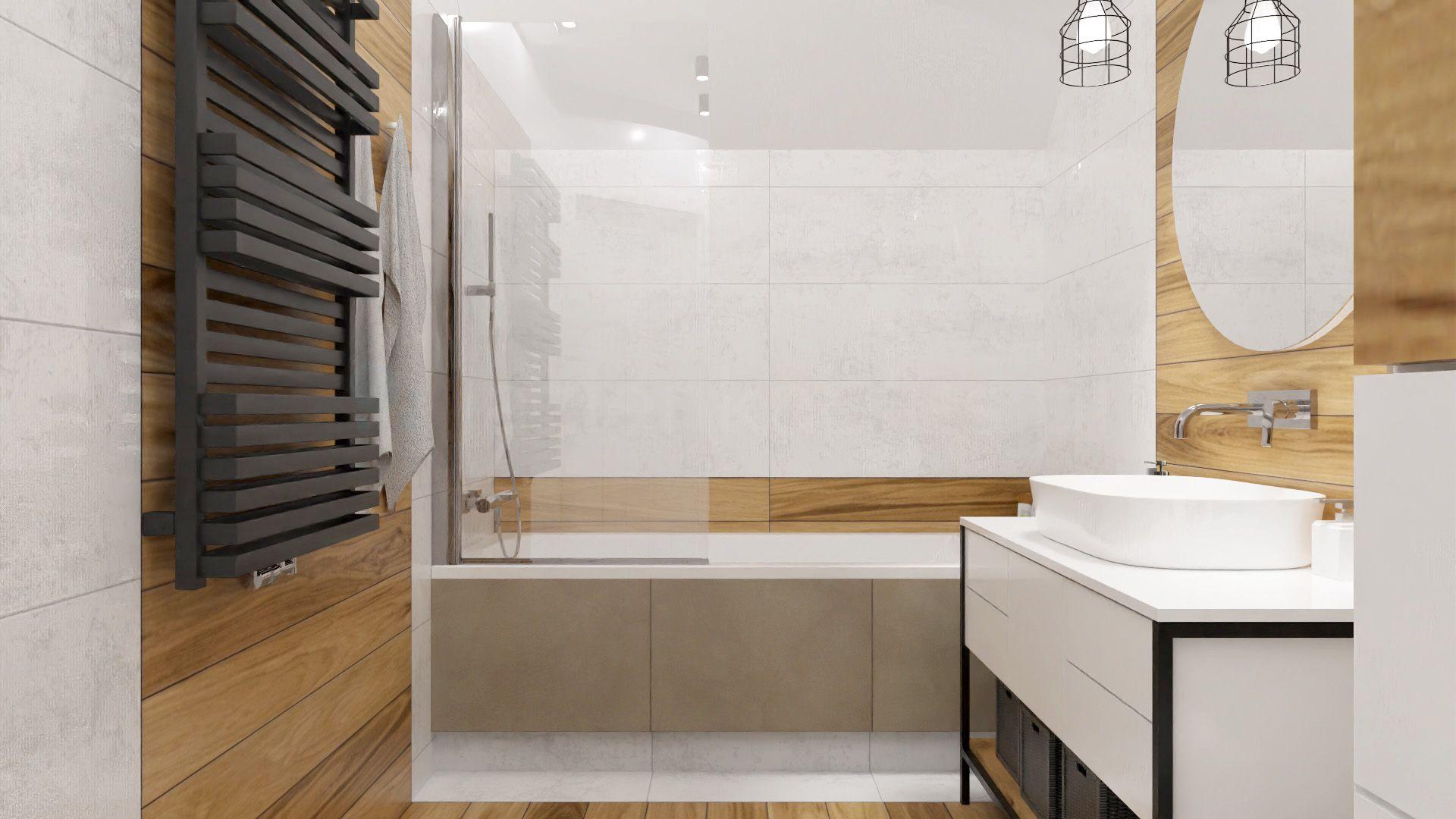 Mała łazienka z wanną i opcją prysznica