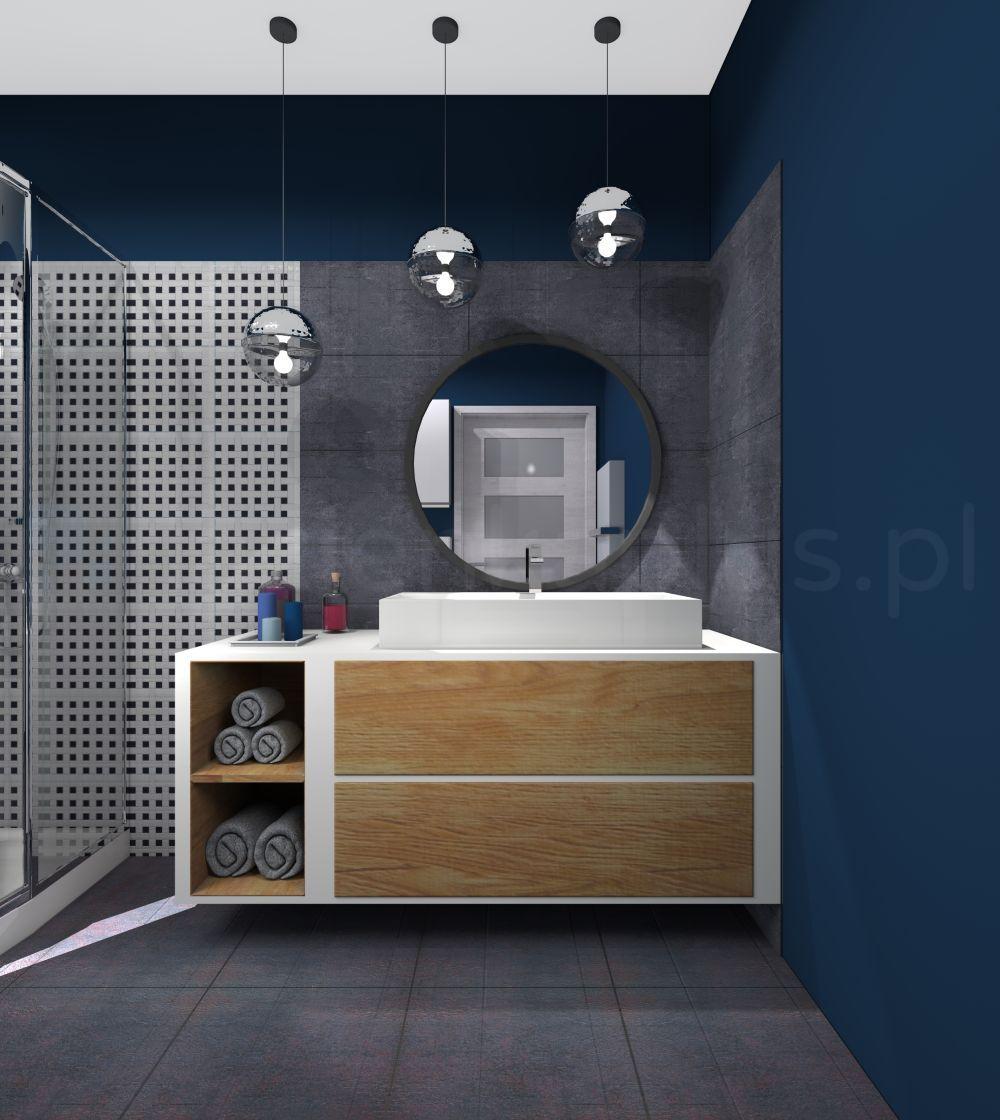 Agata Rozwarska Niebieska łazienka Kuchnie I łazienki