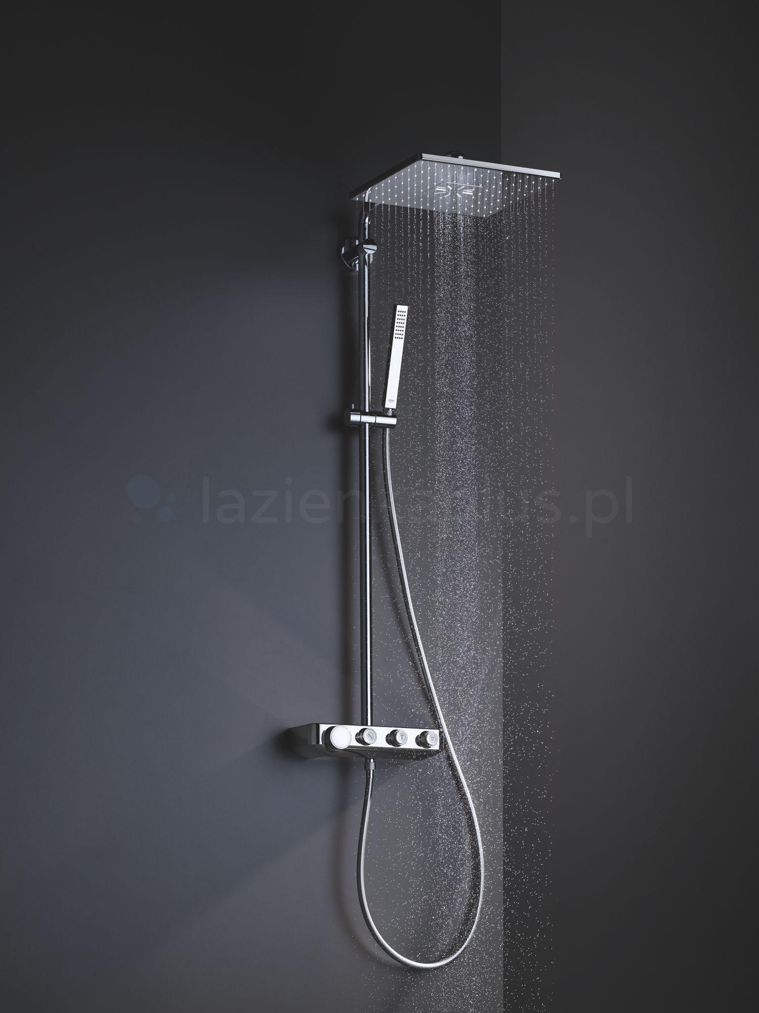 Zestaw prysznicowy z dużą deszczownicą