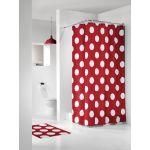 Sealskin Polka zasłona prysznicowa tekstylna 180x200 cm czerwona 233101359
