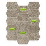 Tubądzin Lemon Stone mozaika ścienna Grey 25x29,8cm @
