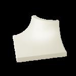 Paradyż Gamma/Gammo kształtka Gamma Bianco C mat. 3X4cm K---030X040-1-GAMA.BIC-M