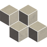 Paradyż Rockstone mozaika Antracite Mozaika Cieta Mix 20,4X23,8cm Mat