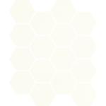 Paradyż Bianco uniwersalna Mozaika Prasowana Hexagon 22x25,5cm M-P-220X255-1-UNIW.BIHE