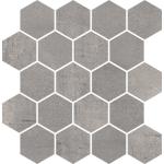 Paradyż Space mozaika Cięta Grafit Heksagon Mat 25,8x28 cm