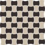 Paradyż Modernizm mozaika ścienno-podłogowa 30,9x30,9 cm prasowana mix C czarny/szary