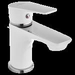 Invena Dokos bateria umywalkowa biała/chrom BU-19-002