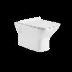 Invena Nyks miska wisząca WC bez kołnierza z deską wolnoopadającą biała CE-61-001
