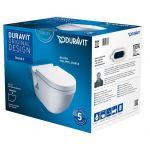 Duravit Starck 3 zestaw WC miska wisząca z deską wolnoopadającą 42000900A1 (220009,006389)