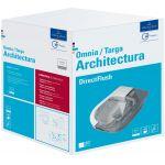 Villeroy & Boch Architectura combi-Pack zestaw miska WC wisząca bez kołnierza CeramicPlus z deską wolnoopadającą Weiss Alpin 5684HRR1