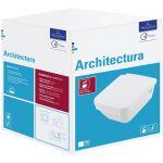 Villeroy & Boch Architectura Combi-Pack miska WC wisząca bez kołnierza z deską wolnoopadającą Weiss Alpin 5685HR01