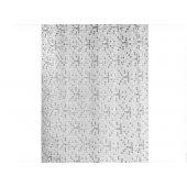 Bisk Mosaic zasłonka prysznicowa 180x200 cm silver 04436