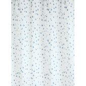 Bisk Drops zasłonka prysznicowa 180x200 cm błękit 03910