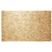 Sealskin Woodblock dywanik łazienkowy 90x52 cm drewno teak 293324274