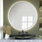 Smartwoods Bright lustro 60 cm okrągłe z oświetleniem LED srebrne barwa światła ciepła