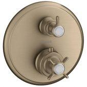 Axor Montreux bateria wannowo-prysznicowa podtynkowa termostatyczna nikiel szczotkowany 16820820