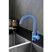 Blue Water Colorado bateria kuchenna z wylewką 360° niebieski mat