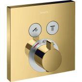 Hansgrohe ShowerSelect bateria wannowo-prysznicowa podtynkowa termostatyczna polerowany złoty optyczny 15763990