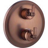 Omnires Armance bateria wannowo-prysznicowa podtynkowa termostatyczna miedź antyczna AM5238/6ORB