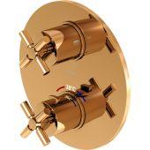 Steinberg 250 bateria wannowo-prysznicowa podtynkowa termostatyczna różowe złoto 2504133RG