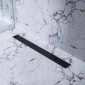 Bravat Black Glass Steel odpływ liniowy 80 cm szkło czarne BLACKGLASSSTEELDRAIN80