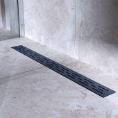Bravat Black Matt Line Steel odpływ liniowy 60 cm czarny mat BLACKMATTLINESTEELDRAIN60