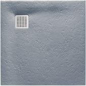 Roca Terran brodzik kwadratowy 90 cm szary cement AP0338438401300