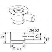 Tece Drainline kolano odpływowe z syfonem 120 mm 650001
