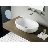 Bathco Spain Toulouse umywalka 59x41,5 cm nablatowa owalna biała 4037