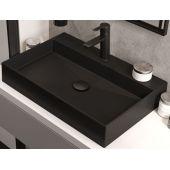 Deante Correo umywalka 60x40 cm nablatowa czarny mat CQRNU6S