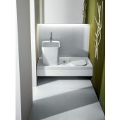 Hatria G-Full umywalka 48x40 cm nablatowa biała YXG801