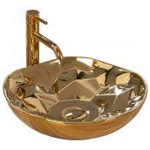Rea Paris umywalka 41 cm nablatowa złota REA-U8500