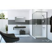 Hüppe Classics 2 4-kąt kabina prysznicowa 90 cm szkło przezroczyste C20107.087.322