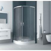 New Trendy Feria kabina prysznicowa 80x80 cm półokrągła szkło perłowe K-0236