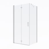 Oltens Trana kabina prysznicowa 100x80 cm prostokątna drzwi ze ścianką 20200100