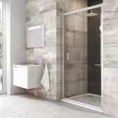 Ravak Blix BLDP2-100 drzwi prysznicowe 100 cm przesuwne polerowane aluminium/grape  0PVA0C00ZG