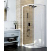 Sanplast Basic KP4/BASIC kabina prysznicowa 90 cm półokrągła szkło przezroczyste 600-450-0260-01-400