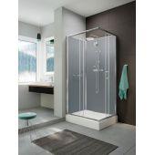 Sanplast Classic II kabina prysznicowa 120x90 cm z brodzikiem i zestawem prysznicowym 602-011-0101-38-4S1