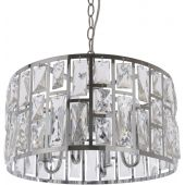 CosmoLight Moscow II lampa wisząca 4x40W kryształ/chrom P04858CH