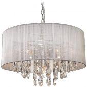 CosmoLight Singapore lampa wisząca 5x40W srebny/chrom P05390AG