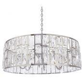 CosmoLight Moscow II lampa wisząca 6x40W kryształ/chrom P06865CH