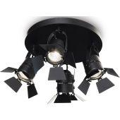 Ideal Lux Ciak PL4 lampa podsufitowa 4x50W czarny mat 095707