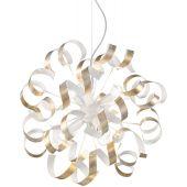 Ideal Lux Vortex SP6 lampa wisząca 6x60W biała/złota 101606