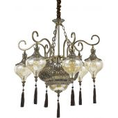 Ideal Lux Harem lampa wisząca 9x60W patyna 116006