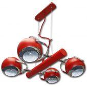 Lis Poland Scotti lampa wisząca 4x40W czerwona 4461ZH04