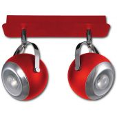 Lis Poland Scotti lampa podsufitowa 2x40W czerwona 4465PLH04