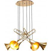 Mantra Jazz lampa wisząca 6x20W złoty/czarny 5895