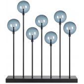 Markslöjd Mäster XL lampa stołowa - świecznik świąteczny 7x0,8W czarny/przydymiony 705192