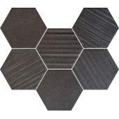 Tubądzin Horizon mozaika ścienna hex black 28,9x22,1cm MS-01-202-0289-0221-1-013